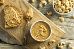 Mantequilla de cacahuete hecha en casa del anacardo imagen de archivo libre de regalías