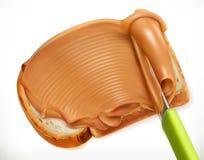 Mantequilla de cacahuete, icono del vector libre illustration