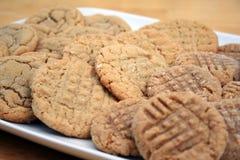 Mantequilla de cacahuete y galletas de azúcar Imagen de archivo