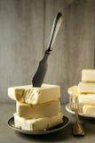 Mantequilla de la leche de vaca Fotos de archivo