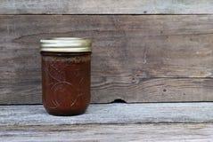 Mantequilla de manzana hecha en casa Imagen de archivo
