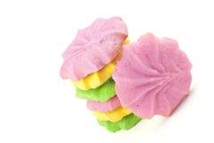 Mantequilla en colores pastel colorida Sugar Cookies Foto de archivo libre de regalías