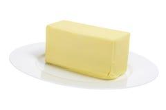 Mantequilla en la placa imagen de archivo libre de regalías