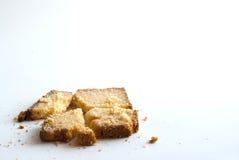 Mantequilla y azúcar de la tostada Fotografía de archivo
