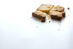 Mantequilla y azúcar de la tostada Fotografía de archivo libre de regalías