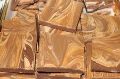 Mantequilla y chocolate de cacahuete Fotos de archivo libres de regalías