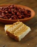 Mantequilla y tuercas de cacahuete Fotos de archivo libres de regalías