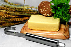 Mantequilla y verdes Imagenes de archivo