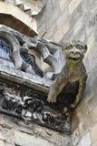 Mantes la Jolie;法国- 2016年10月18日:哥特式Notre Dame co 免版税库存照片