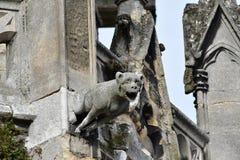 Mantes la Jolie;法国- 2016年10月18日:哥特式Notre Dame co 库存照片