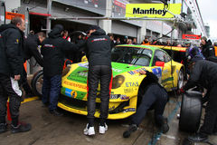 Manthey Porsche pitting Royalty Free Stock Image