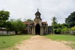 Abode of the minister. The `Manthiri manai`, which means the abode of the minister, is a historical site, which is thought to be the home used by the ministers stock image
