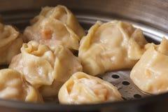 Manti τα χορτοφάγα, υγιή τρόφιμα κολοκύθας, που βράζουν στον ατμό με στοκ εικόνες