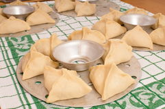 Manti (dumpling).Dish of the Asian countries. A mid-15th century Ottoman recipe survives, with the manti filled with pounded lamb and crushed chickpeas, steamed stock photo
