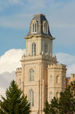 Manti Temple. Utah Manti Temple of The Church of Jesus Christ of Latter-day Saints, built in the 1800's under Brigham Young Stock Photo