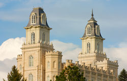 Manti Temple Royalty Free Stock Image