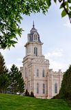 Manti Temple. Manti Utah Temple of The Church of Jesus Christ of Latter-day Saints, built in the 1800's under Brigham Young Stock Photos