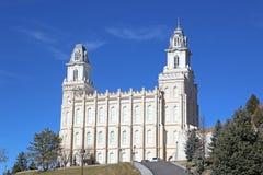 Manti Temple, Utah Stock Image