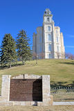 Manti Temple, Utah. Manti temple on a hill top Royalty Free Stock Photography