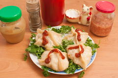 Free Manti � The Asian Dish. Are Steamed. Royalty Free Stock Photos - 13387228