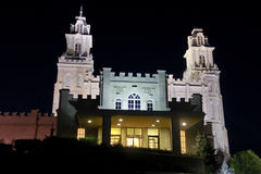 Manti Utah Temple at night Stock Photography