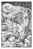 Manticore Illustrazione incisa di fantasia royalty illustrazione gratis