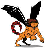 Manticore about to attack Royalty Free Stock Photo