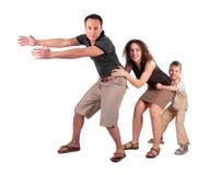 Mantiene del hijo y de la madre para el encadenamiento del padre imagen de archivo