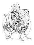 Mantis insect coloring book vector illustration Stock Photos