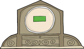 Mantle Clock with Blank LCD Face Stock Images