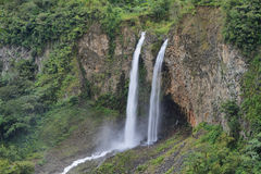 Manto de la novia (bridal veil) waterfall Stock Photo