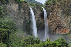 Manto de la novia (bridal veil) waterfall Stock Photography