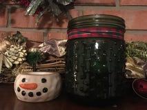 Manto della candela di inverno fotografia stock