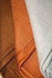 Mantones del pashmina de Brown Imagen de archivo libre de regalías