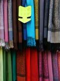 Mantones Pashminas para la venta Foto de archivo