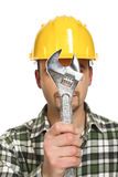 Mantool with classic wrench Royalty Free Stock Photography