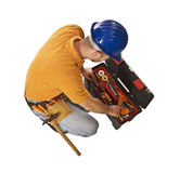 Mantool at work Stock Images