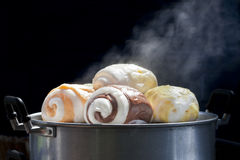 Mantou或汉语蒸的小圆面包 免版税库存照片