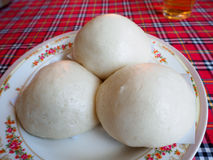 Mantou circular plate Stock Photo