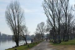 Mantova —Mincio flodstrand fotografering för bildbyråer