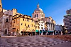 Mantova city Piazza delle Erbe view Royalty Free Stock Photos