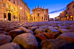Mantova city Piazza Sordello evening view Royalty Free Stock Photos