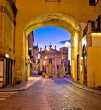 Mantova city Piazza Sordello evening view Royalty Free Stock Photo