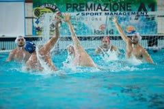 MANTOVA - 19 DE FEBRERO: Andrea Razzi (centro) y F Di Fulvio foto de archivo