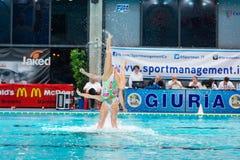 MANTOVA - FEBRUARY 19:    BPM Sport Management   Synchronized sw Stock Images