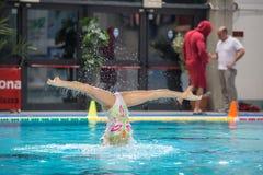 MANTOVA - FEBRUARY 19:    BPM Sport Management   Synchronized sw Royalty Free Stock Photo