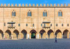 The historic places of Mantova. Mantova, Italy -  July 31, 2011:  The Ducale palace in  Sordello square Stock Photography