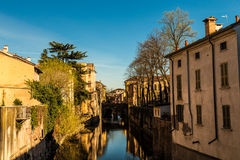 Mantova and its canal Stock Images