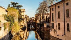 Mantova and its canal Royalty Free Stock Image