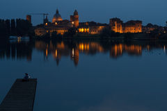 Mantova at Night Stock Images